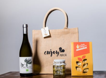 food bag juta aperitivo enjoy marche idea regalo natale