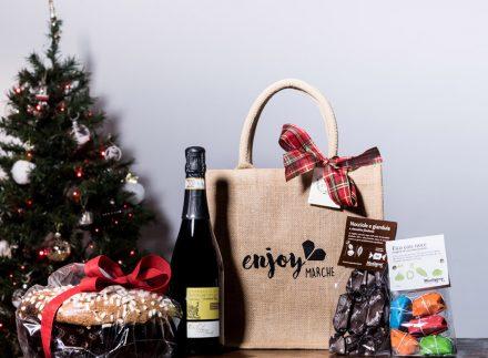 food bag juta classica enjoy marche idea regalo natale