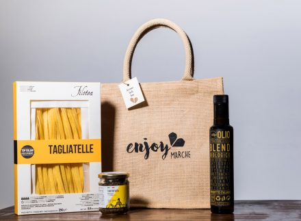 food bag juta primo piatto enjoy marche idea regalo natale